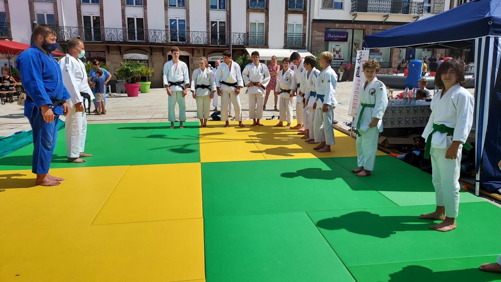 26 Juin 2021 _ Olympiades sur la place du Château à Saverne_JUDO